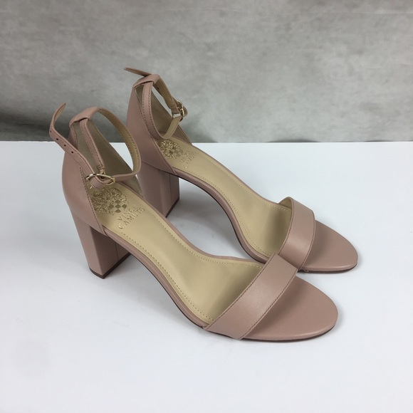 ec1502b8526 New Vince Camuto Monessa Pink Leather Heels NWT